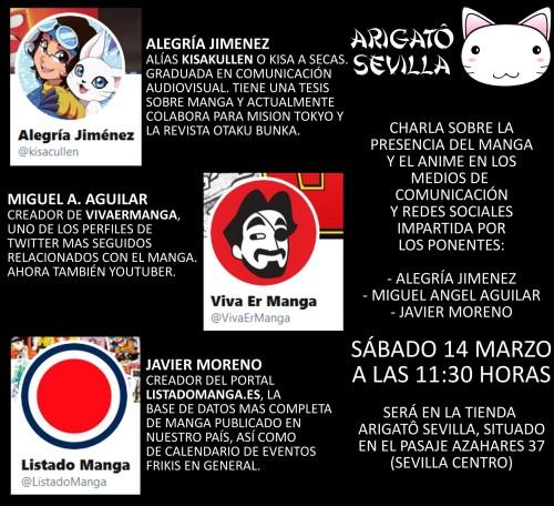 Charla manga y medios Arigato