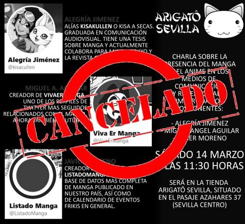 CANCELADO Charla manga y medios Arigato